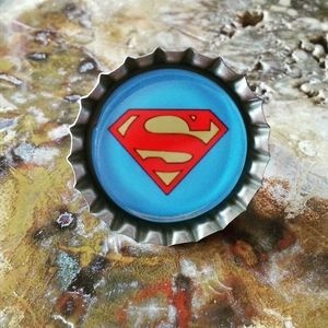 Superman bottlecap ring